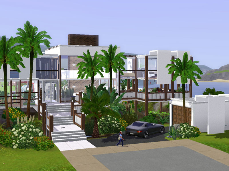 Grundrisse sims 4 h user amped for for Modernes haus sims 3