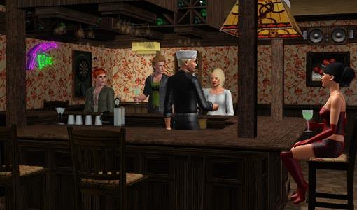 Pub mit Bar und Dartscheibe