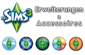 Die Sims 3 Erweiterungen und Accessoires