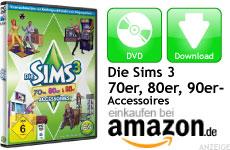 Mini Die Sims 3 70er, 80er & 90er-Accessoires
