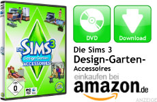 Mini Die Sims 3 Design-Garten-Accessoires
