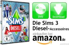 Mini Die Sims 3 DIESEL Accessoires
