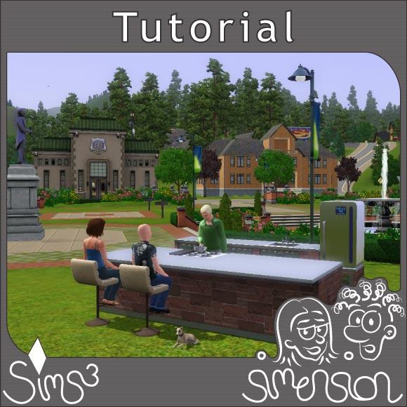 Sims kochen im Park von Sunset Valley