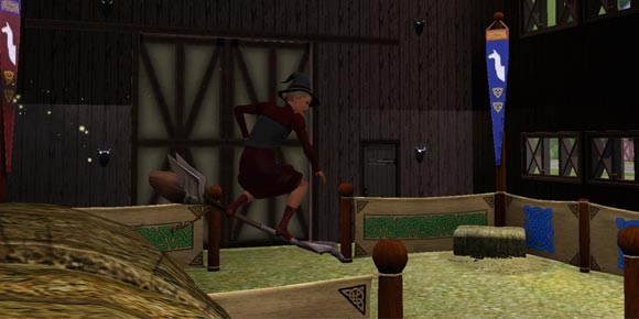 Zauberbesenarena in der Scheune versteckt