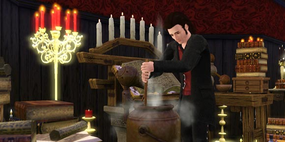 rührender Sim an Alchemiestation