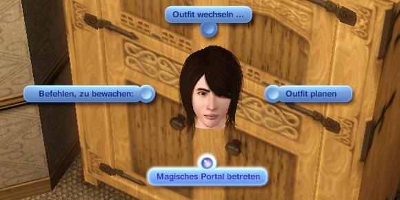 Dialog mit der Option Magisches Portal betreten