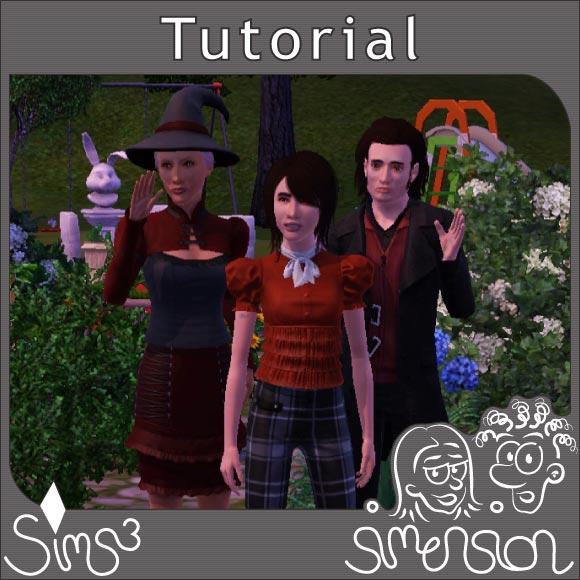 positionierte Sims auf einem Gemeinschaftsgrundstück