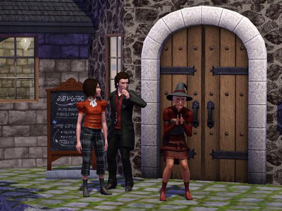 drei Sims für einem Lokal