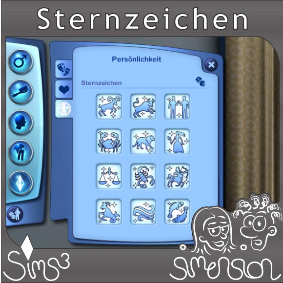 sims 3 erstelle einen sim sternzeichen f r deine sims. Black Bedroom Furniture Sets. Home Design Ideas