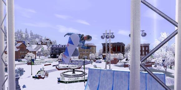 Sim auf Snowboard