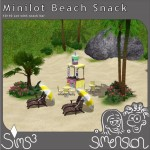 Beach with snack bar