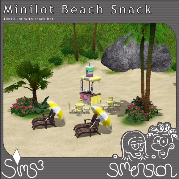 Beach with snack bar
