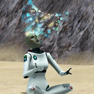 Alien stellt seine Gehirnleistung mit einem Trancezustand wieder her