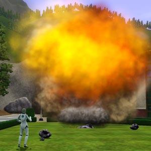 Alien verursacht Meteoreinschlag