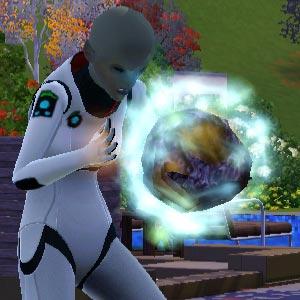 Alien konsumiert einen Meteor