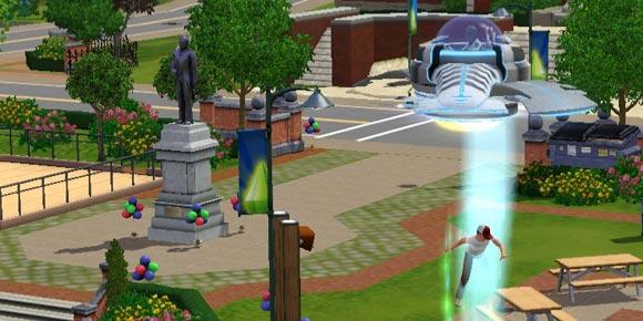 Alien entführt einen ihm bekannten Sim