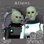 zwei Aliens vor dem Wissenschaftlichen Institut