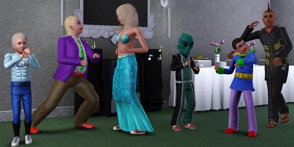 tanzende Kinder und Teens in Verkleidungen