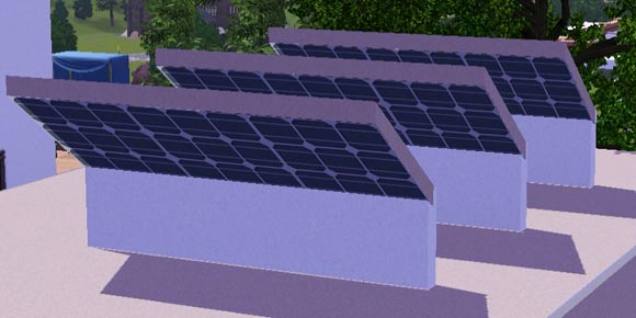 texturierte Unterseite der Solarpaneele