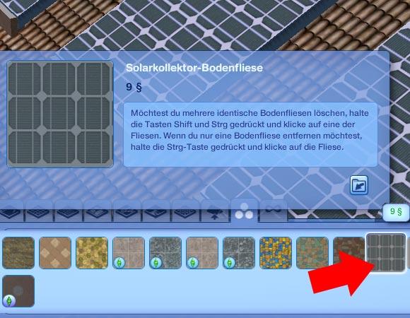 Die Sims 3 Tutorial - Solaranlagen selber bauen - Solarkollektor-Bodenfliese