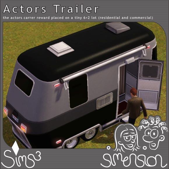 Trailer - actors career reward on a tiny lot | Wohnwagen - Schauspieler-Karrierebelohnung auf winzigem Grundstück