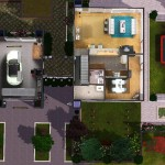 Sims 3 Download Arjan - floor plan: downstairs | Grundriss: Erdgeschoss