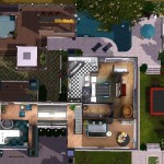 Sims 3 Download Arjan - floor plan - upstairs | Grundriss Obergeschoss