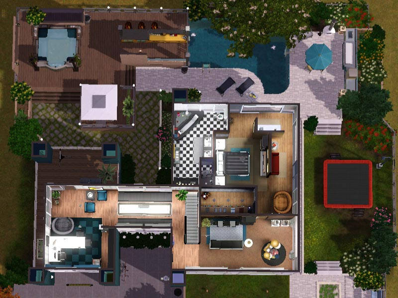 Sims 3 download arjan modern home modernes haus for Modernes haus sims 4