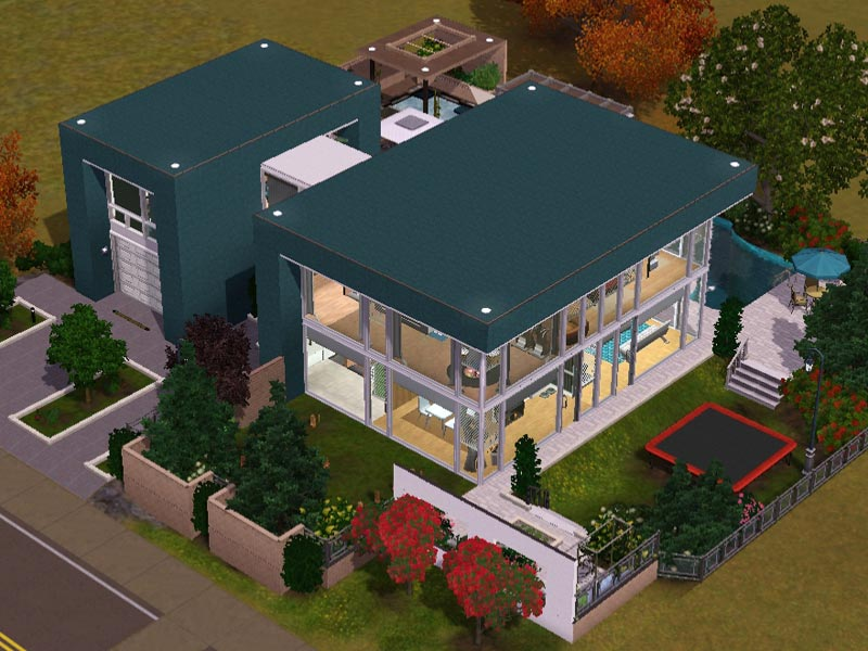 Awesome sims 3 wohnzimmer modern gallery house design for Modernes haus download