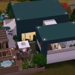 Sims 3 Download Arjan - garden with pool, bar andbbq