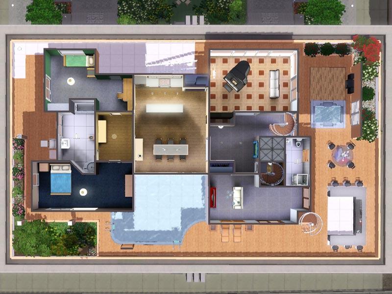 Sims 3 Download Ferne - luxury loft  luxuriöses Loft