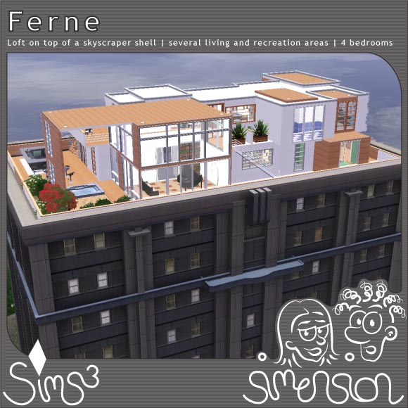 Sims 3 Download - loft on top of a skyscaper | Loft auf einem Hochhaus