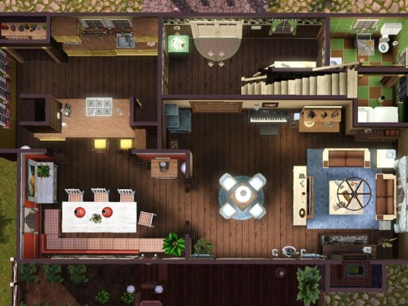 farm house - floorplan downstairs