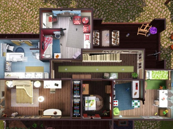 farm house - floorplan upstairs