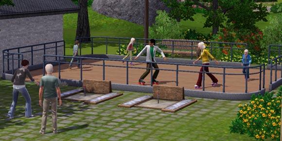 Sims laufen Rollshuh