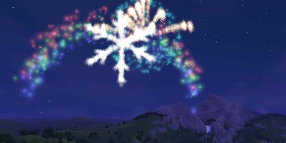 Feuerwerk Extravaganza über den Bergen Sunset Valleys