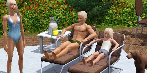 Sims beim Sonnen mit Teint