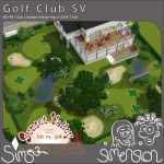 Sims 3 golf course at a golf club | Golfkurs des Golfclubs