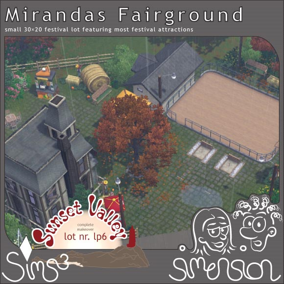 Sims 3 Download - festival lot | Festgelaende