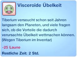 Moodlet Visceroide Übelkeit bei Tiberium im Inventar