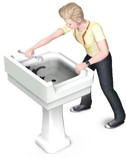Rumbasteln an Sanitärobjekten
