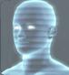 Geist  Futuristisches Hologramm