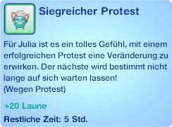 Moodlet Siegreicher Protest
