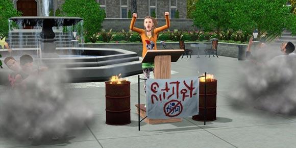 Randalierer-Protest