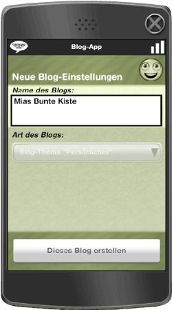 """Blog mit Thema """"Persönliches"""" auf der Blog-App erstellen"""