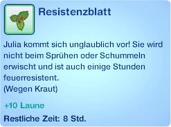 Wirkung von Resistenzblatt