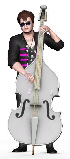 Sim spielt Bass