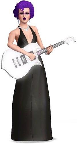 Sim spielt Gitarre