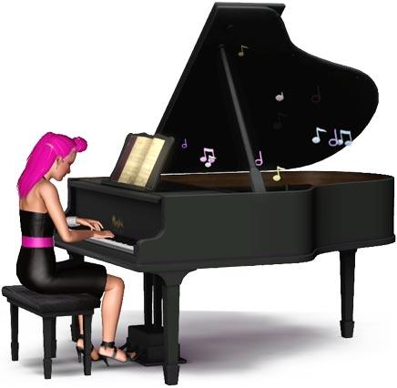 Pianistin am Klavier