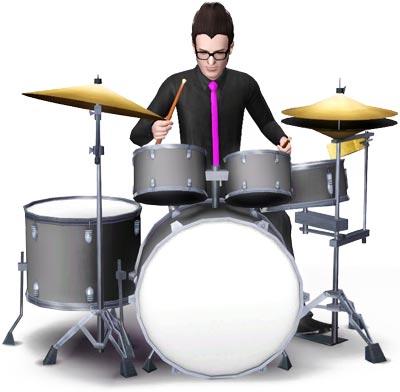 Drummer am Schlagzeug